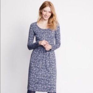 Boden Mabel Jersey Dress: blue floral print